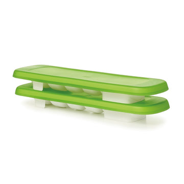 Baby Food Freezer Tray With Silicone Lid - 2 Pack (Green)