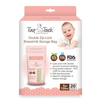 Breast Milk Storage Bags 150ml/5oz - 20 Pcs