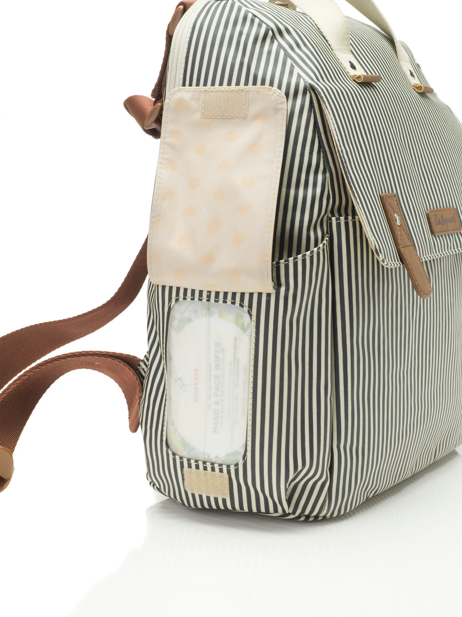 Robyn Convertible Backpack (Navy Stripe)