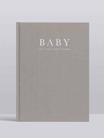 Baby Journal: Birth to Five Years - Grey