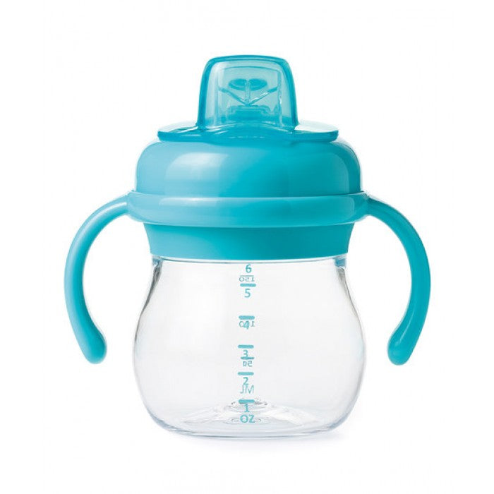 Transitions Soft Spout Sippy Cup With Removable Handles - 6oz (Aqua)