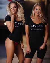 Load image into Gallery viewer, Miss Swimsuit UK fitted Black T-Shirt.