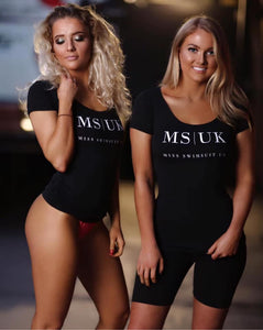 Miss Swimsuit UK fitted Black T-Shirt.