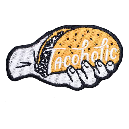 Tacoholic Iron-On Taco Embroidered Patch