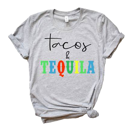 Tacos & Tequila Colorful Tee