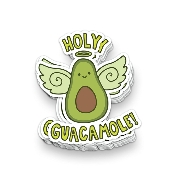 Holy Guacamole Avocado Vinyl Sticker