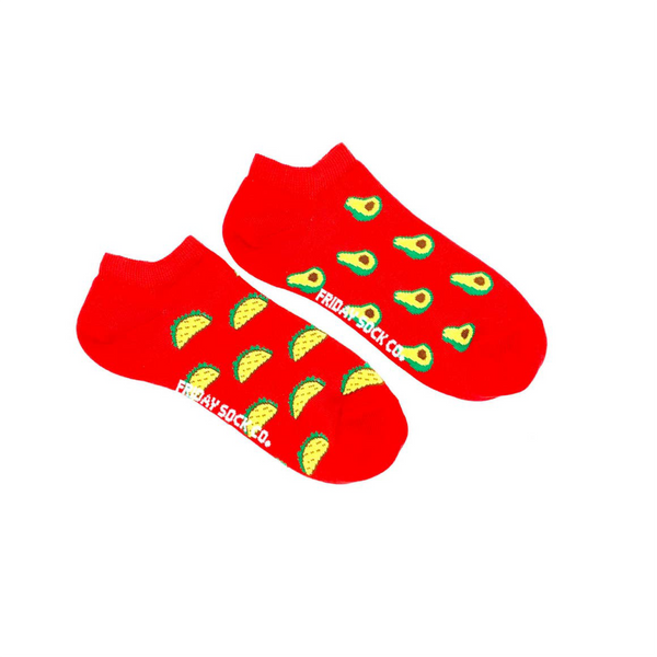 Avocado & Taco Crew Socks