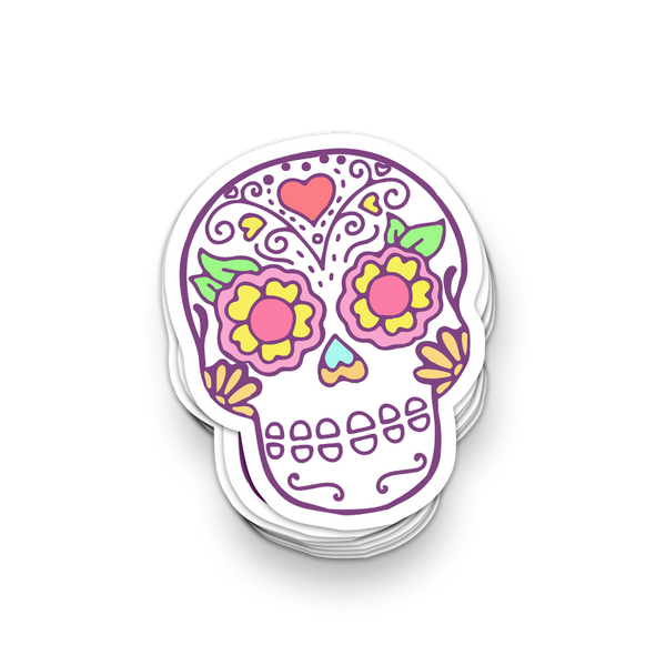 Sugar Skull Day of the Dead Vinyl Sticker