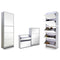 5 Level 40 Pair Stackable Stylish Mirrored Shoe Cabinet Without Backboard - iDealDirect - 2