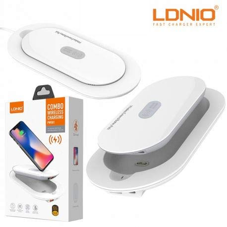 LDNIO PW501 Combo 5000mAh Wireless Charging External Battery with Smart Dock