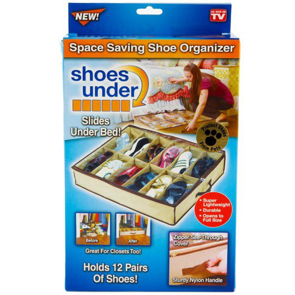 2 Pack - Shoe Under Organiser