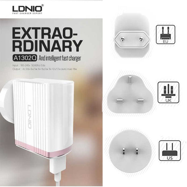 1USB Fast Charger LDNIO A1302 Qualcomm Quick Charge