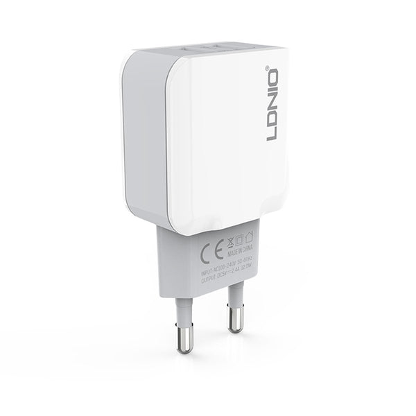 LDNIO A2202 2 USB Home/Travel Charger 2.4A with Micro USB Cable
