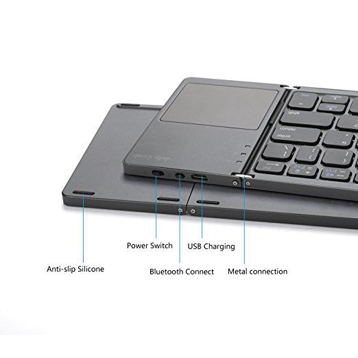 Foldable Bluetooth Keyboard with Touchpad