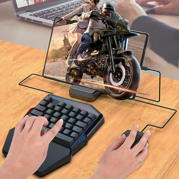 35-Keys One-Handed Gaming Keyboard with LED Backlight