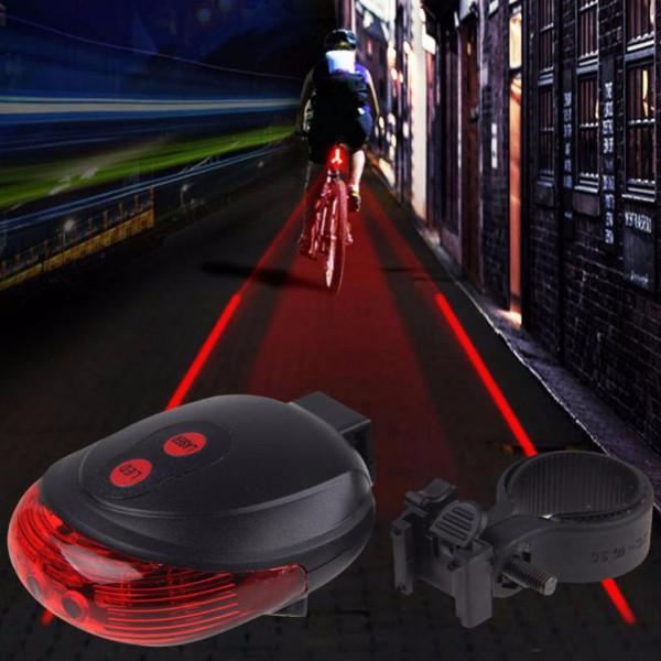LED Bike Tail Light with Laser Safety Lane - iDealDirect - 1