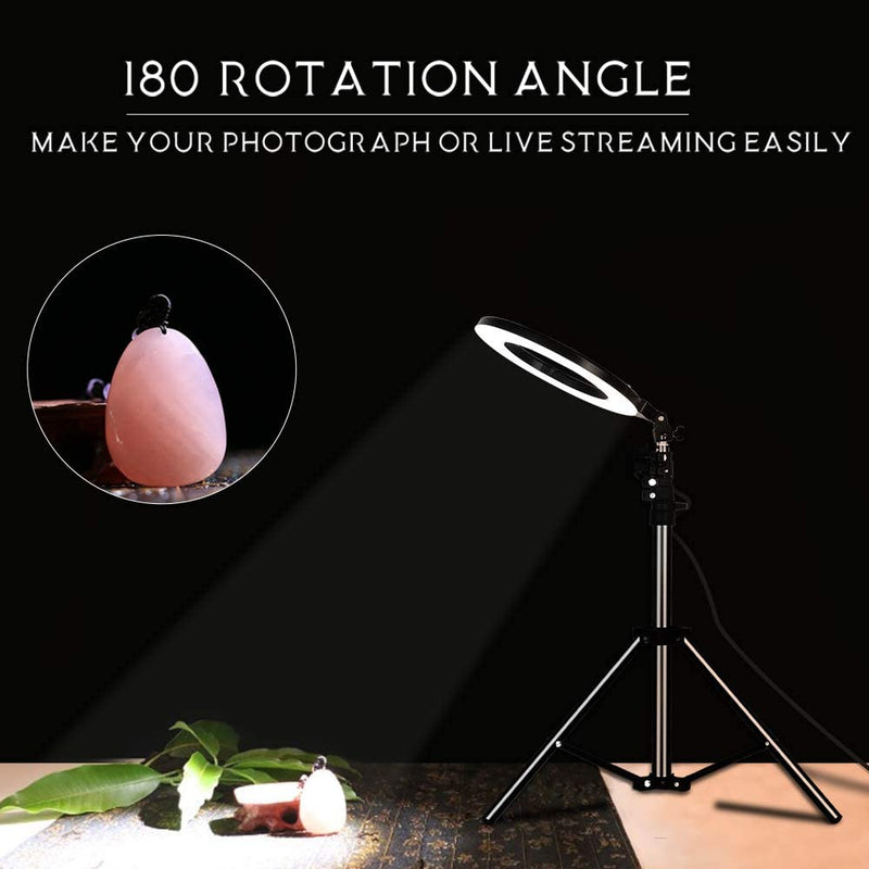 LED Photography and Video Ring Light with Stand
