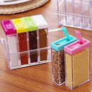 6Pcs Colourful Spice Jar set