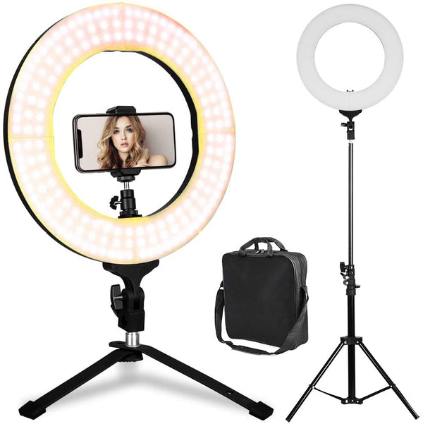 "18"" LED Photography and Video Ring Light with Stand"