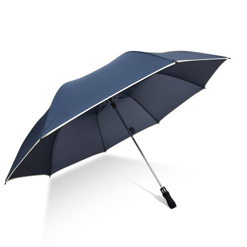 Umbrella with Thin White Stripe