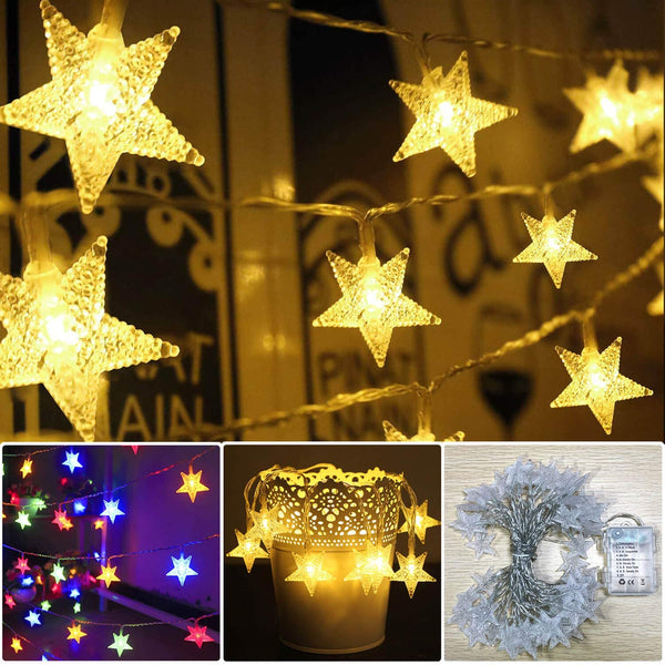 Battery Operated Star String Lights
