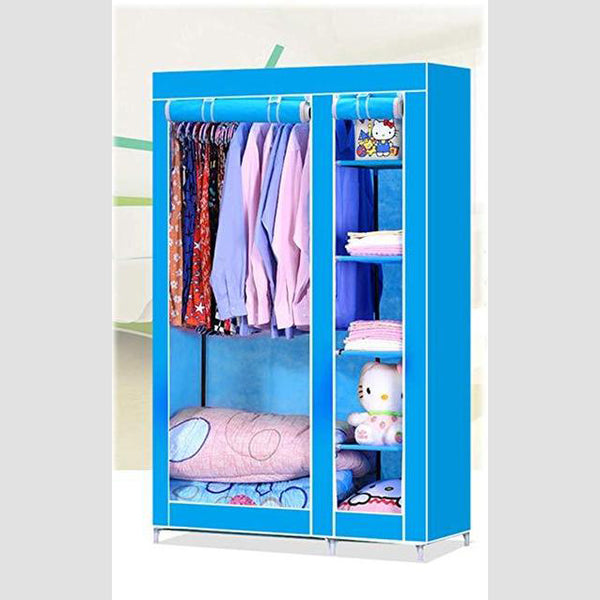 Storage Wardrobe With Rail & Protective Cover