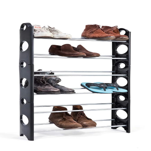 30 Pair Stackable Shoe Rack - Shoe Storage
