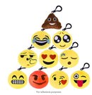 Pack of 5 Emoticon Keyrings
