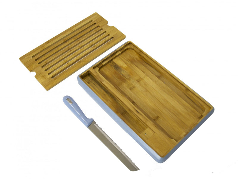 Bread Board with Knife - Blue