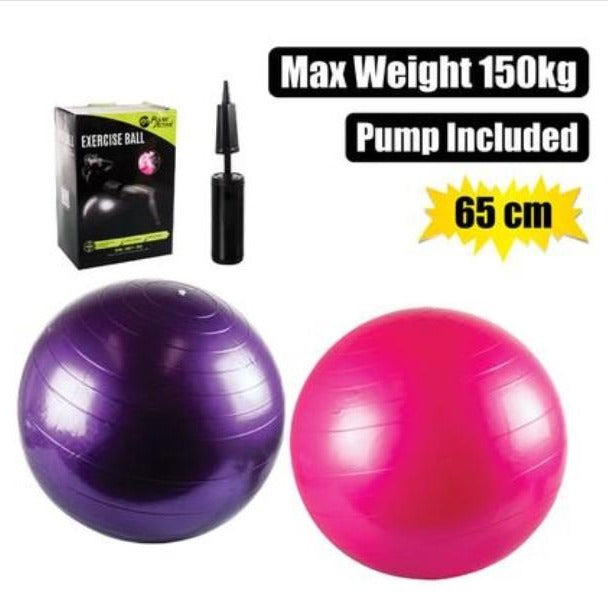 65cm Exercise/yoga ball including pump