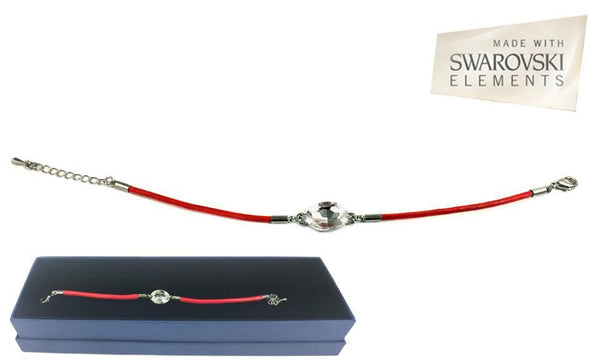 RED SWAROVSKI INSPIRED CRYSTAL BRACELET - iDealDirect - 1