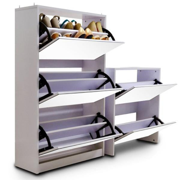 5 Level 40 Pair Stackable Stylish Mirrored Shoe Cabinet Without Backboard - iDealDirect - 3