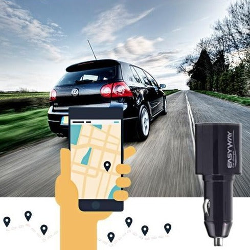 Easyway USB Car Charger With GPS Locator