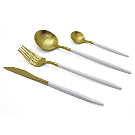 Finery - Cutlery Set 12pc - Gold/White