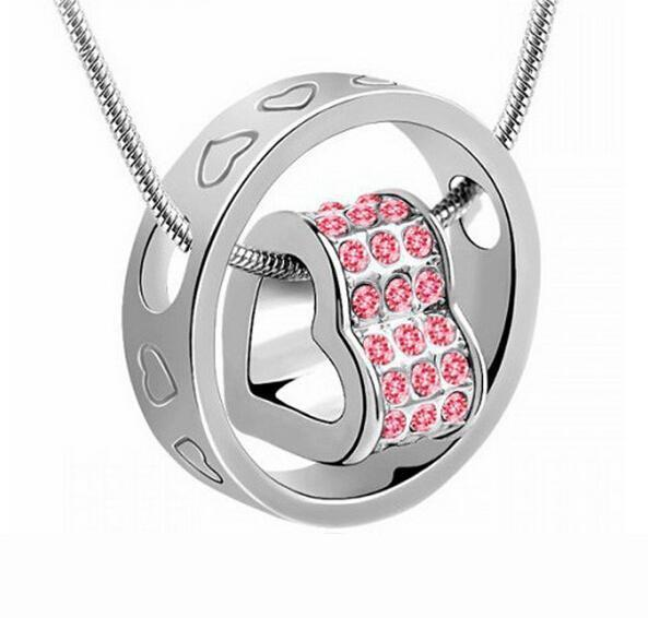Swarovski Crystal Heart Ring Pendant