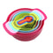 10 Pc Rainbow-Themed Mixing Bowls
