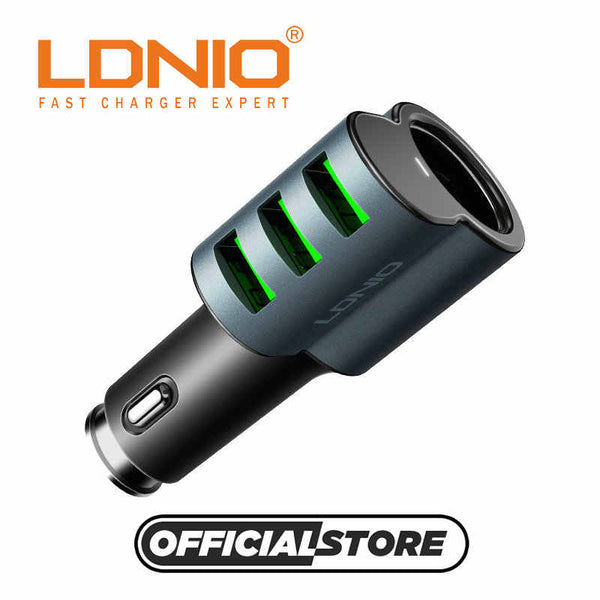 LDNIO CM11 Fast Carging 3 Ports USB Car Charger