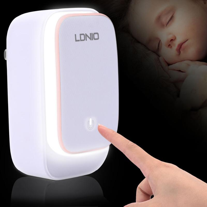 LDNIO 2 IN1 LED Touch Lamp With 3 USB Charging Ports