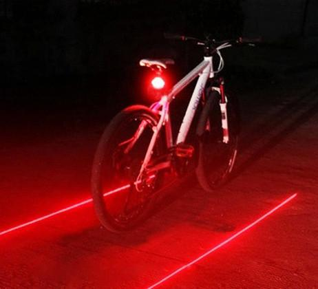 LED Bike Tail Light with Laser Safety Lane - iDealDirect - 4