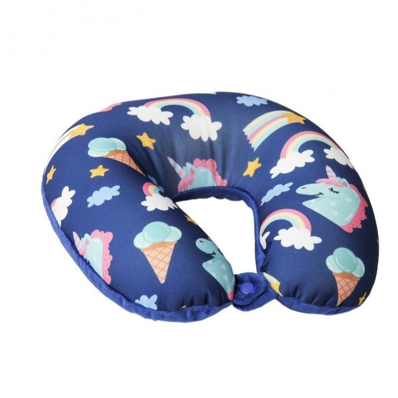 Medoodi Neck Cushion-Unicorn Ice-creams-Dark Blue