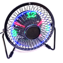 USB Desk Fan With Clock Display