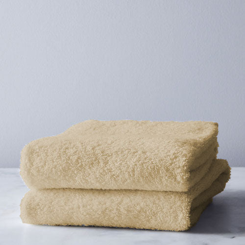 BEIGE 2 PACK Bath Sheet 450GSM 70x130cm  (2 Free Stone Face Clothes)