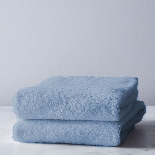 FRENCH BLUE 2 PACK Bath Sheet 450GSM 70x130cm  (2 Free Stone Face Clothes)