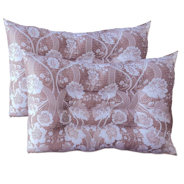 InstaSleep Contoured Comfort Pillow Set of 2 CONFLO Toffee Floral Paisley