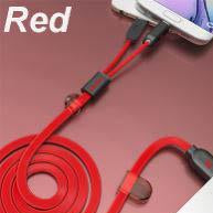 REMAX Same Time Charge 2 in 1 Cable 100cm Red