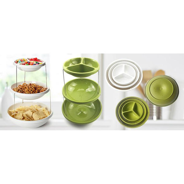 Twist Fold Party Bowls Green