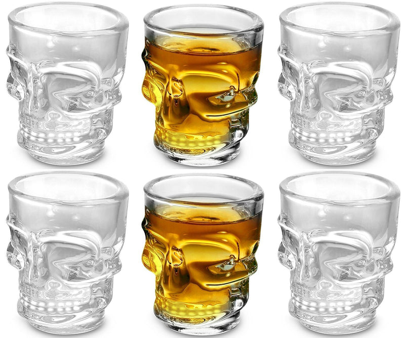 Set of 6 Skull Shot Glasses