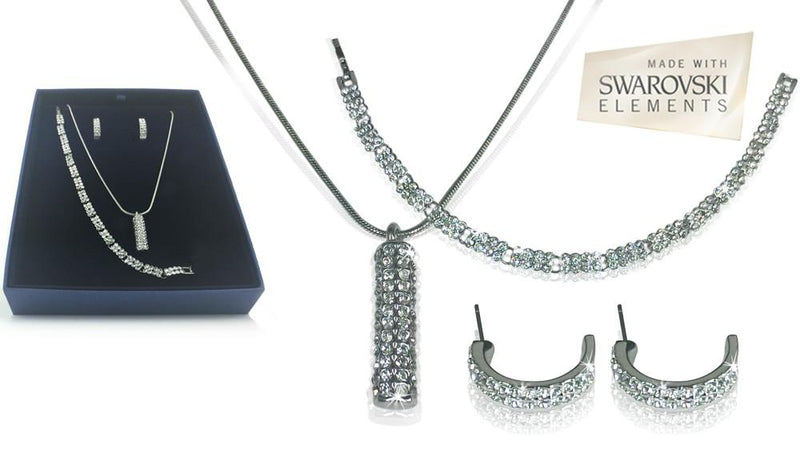 Silver Swarovski Trio Set - iDealDirect - 3