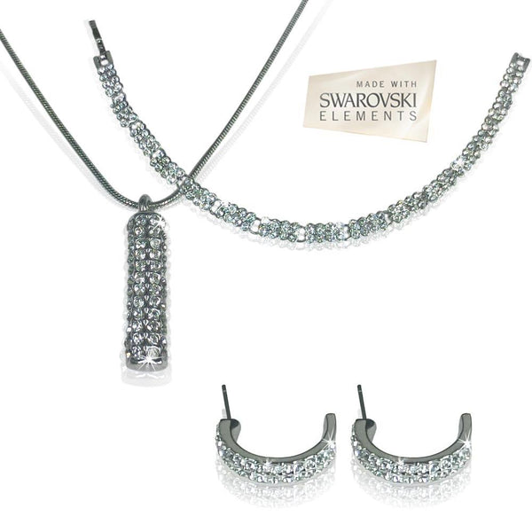 Silver Swarovski Trio Set - iDealDirect - 2