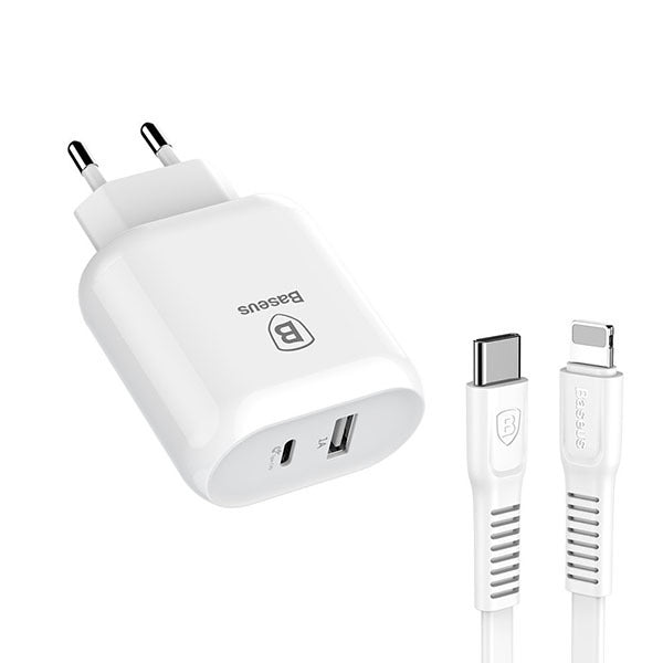 Baseus Bojure SeriesType-C PD+U quick charge charger 32W with Type-C to Lightning PD cable set